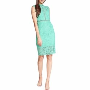 Bardot Mint Green Lace Eyelet Sheath Dress NWT